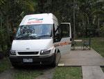 unser neues Gefährt von Cairns bis Adelaide