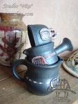 15-06. Керамическая чёрнолощёная посуда ручной работы.