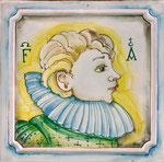 Подарок на заказ. Плитка с портретом. Ручная роспись по керамике.