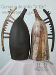 """Подарки. Бутыли """"День и ночь волчицы"""". Handmade ceramics."""
