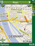 Geocache Navigator Karten-Ansicht