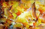 Nuées Ardentes      Acrylique sur toile ( 92x65 )