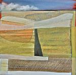 Baie de Somme, Printemps, huile sur toile- 50/50cm, sold.