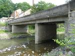 Die alte Brücke in Friedland kurz vor dem Abriss