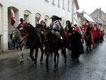 Wallenstein auf dem Weg zum Marktplatz