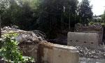 Die Brücke wurde abgerissen