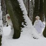 Fantasie & Wirklichkeit Fotografien und Gedichte Kathrin Steiger  Winter Wald Schnee Schneeprinzessin Schneefee Schneewichtel
