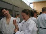 Anna und Dominik, Lehrgang in Breisgau 20.6.09 mit E. Karamitsos