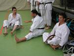 Dominik, Antimo und Thorsten, Lehrgang in Breisgau 20.6.09 mit E. Karamitsos