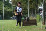 Sylvia und Sally laufen den Hindernislauf auf einem offiziellen Heimturnier