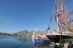 """Water Front mit dem russischen Segelschulschiff """"Sedow"""""""