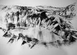 Zyklus Eisernes Tor, Tusche auf Papier, 84x49,5cm (4)