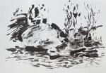 Zyklus Oberer Kamp, Tusche auf Papier, 42x30cm (4)
