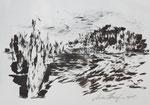 Zyklus Oberer Kamp, Tusche auf Papier, 42x30cm (2)