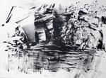 Zyklus Eisernes Tor, Tusche auf Papier, 84x49,5cm (2)
