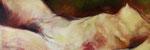 Nu, 150 x 50 cm, acrylique, huile sur toile, 2012