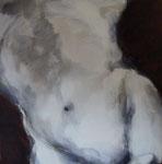 Nu, 80 x 80 cm, acrylique, pigments, craies grasses sur toile, 2012