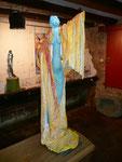 El Canto de la Diosa Áurea (parte frontal) Terracota & acrílico sobre tela