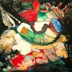 Espíritu de la Danza IV - Mixta sobre tabla 50 x 50 cm