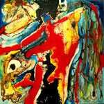 Espíritu de la Danza II - Mixta  sobre tabla 50 x 50 cm