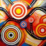 Usted Está Aquí (serie Seducción) - Acrílico sobre lienzo 80 x 80 cm