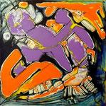 Espíritu de la Danza V - Acrílico sobre tabla 50 x 50 cm