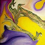 Vuelo de la Quimera - Mixta sobre tela 30 x 30 cm VENDIDO