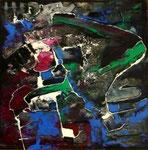 Espíritu de la Danza III -Mixta sobre tabla 50 x 50 cm