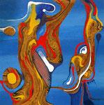 Reinterpretación Helénica - Mixta sobre tabla 30 x 30 cm