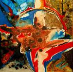 Espíritu de la Danza I - Mixta sobre tabla 50 x 50 cm