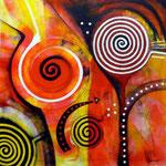 Adicción (serie Seducción) - Mixta sobre lienzo 40 x 40 cm