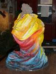 Emergín (parte posterior) Terracota & acrílico sobre tela