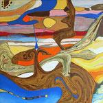 Territorio Perdido - Mixta sobre tela 30 x 30 cm  VENDIDO