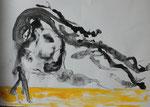 Frottage, Stifte, 30 x 40 cm
