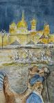 19. November-Wie aus 1001 Nacht!! , Feder, Aquarell, 30 x 60 cm