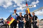 Die Vertretung aus Deutschland: Karsten Ney, Helmut Wild, Rene` Münnich und Mandie August