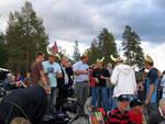 Friedlich feiernde Wikinger