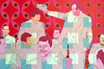 Ronald und die Bayern, 2002, 100 x 150 cm