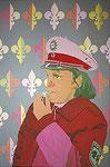 Pfeifende Bullette, 2001, 150 x 100 cm