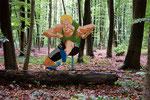 Trimm-Dich Pfad: Hürdenläufer, 2005, 120 x 115 cm