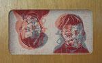 twins  - malso/malso, 2011, Linoldoppeldruck auf Papier und Gaze