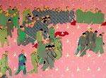 Hundertschaft, 2001, 150 x 200 cm