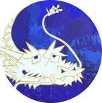 「白龍図」2014 新宿伊勢丹個展