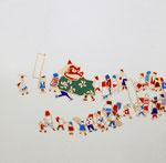 「獅子舞と群像図」2014  S3(273×273mm)  「伊勢丹新春祭アートのチカラ」出品