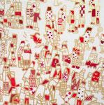 「群像図」2014 (150×150mm)  「猫展」出品