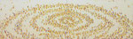 「螺旋群像図屏風」2014 風炉先屏風    「伊勢丹新春祭アートのチカラ」出品