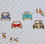 「車と群像」2014  SSM(227×227mm)