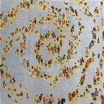 「螺旋群像図シルバー」2014