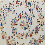 「螺旋群像図」2014  S3(273×273mm)    「伊勢丹新春祭アートのチカラ」出品