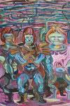 Meneken, 2014, Acryl auf Leinwand, 90 x 60 cm